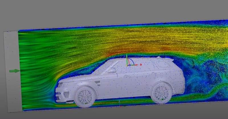 Аэродинамика автомобиля - компьютерная модель набегающего воздушного потока