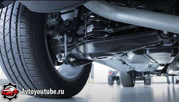 Двухрычажная задняя независимая подвеска автомобиля