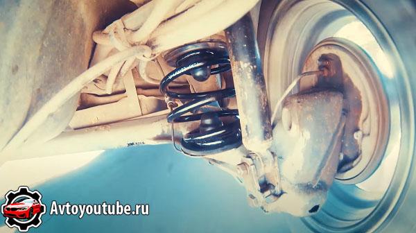 Полузависимая задняя подвеска авто - торсионная балка